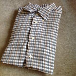 Bloomingdale's Eton Sweden Mens Shirt button up L